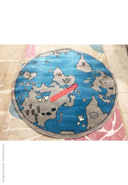 فرش ساوین 4047 کره زمین گرد مدرن و فانتزی