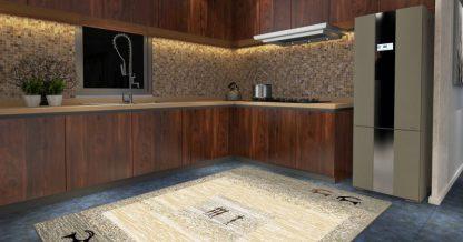 فرش ساوین 4066 شکلاتی مدرن و فانتزی