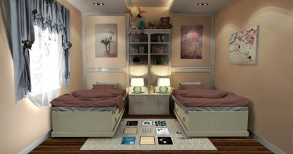 فرش ساوین 4067 شکلاتی مدرن و فانتزی آشپزخانه
