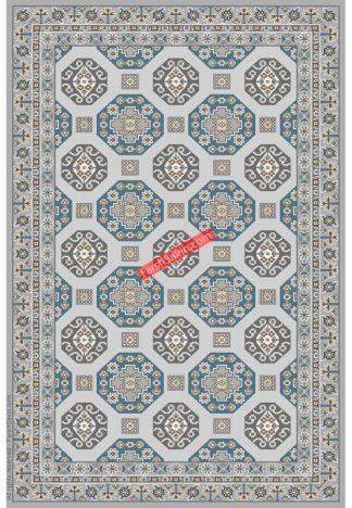 فرش ساوین 7400 نقره ای روشن مدرن و فانتزی