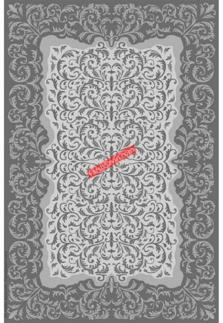 فرش ساوین 7401 نقره ای روشن مدرن و فانتزی پذیرایی