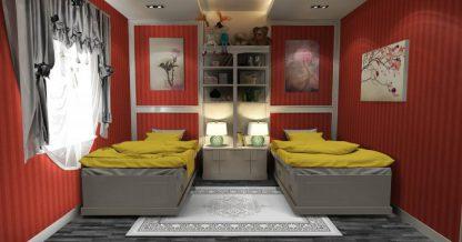 فرش ساوین 7403 نقره ای روشن مدرن و فانتزی اتاق پذیرایی