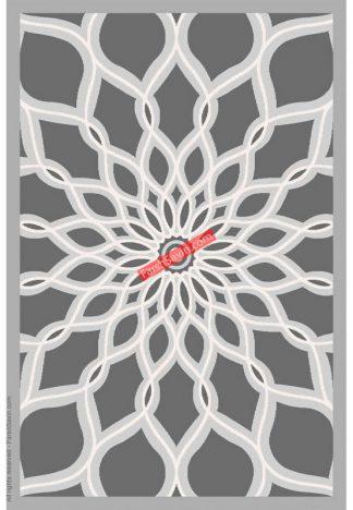فرش ساوین 7405 نقره ای روشن مدرن و فانتزی