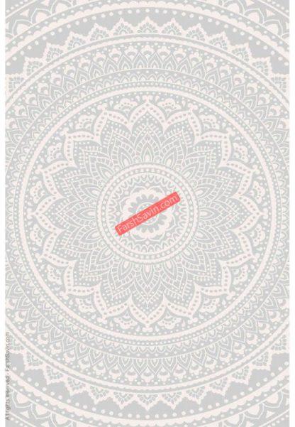 فرش ساوین 7408 نقره ای روشن مدرن و فانتزی