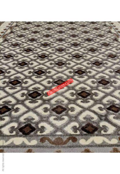 فرش ساوین 7409 نقره ای روشن مدرن و فانتزی