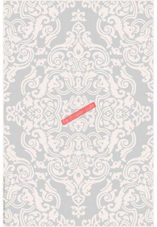 فرش ساوین 7410 نقره ای روشن مدرن و فانتزی