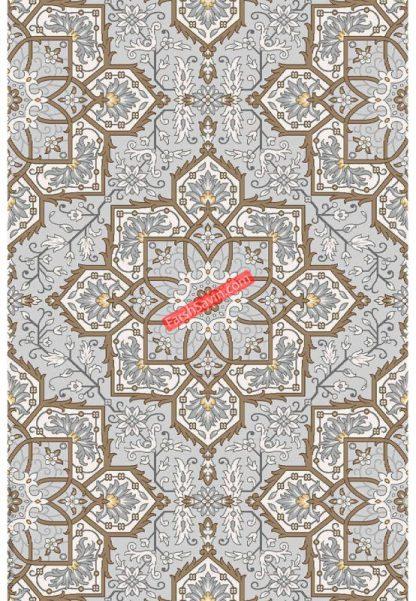 فرش ساوین 7411 نقره ای روشن مدرن و فانتزی پذیرایی