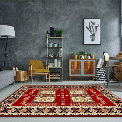 فرش ساوین قشقایی لاکی سنتی