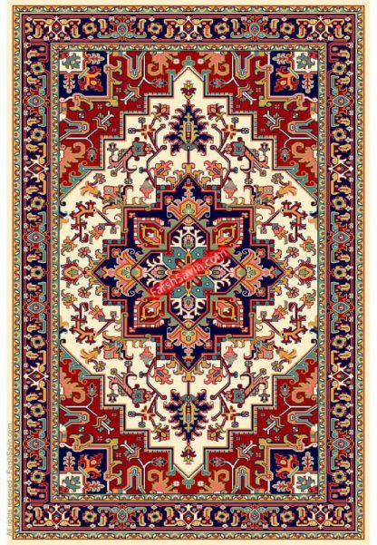 فرش ساوین هریس 2 کرم سنتی