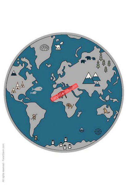 فرش ساوین کره زمین 4047 گرد