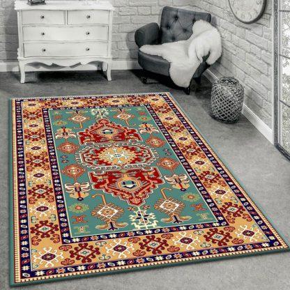 فرش ساوین طوبی 2 آبی سنتی