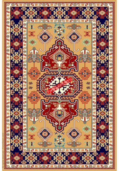 فرش ساوین طوبی 2 عسلی گبه