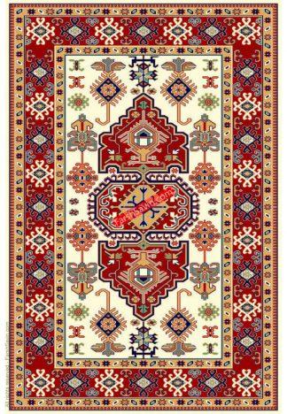فرش ساوین طوبی 2 کرم روستایی