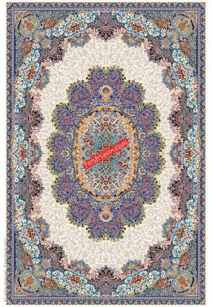 فرش ساوین 1572 کرم کلاسیک پذیرایی
