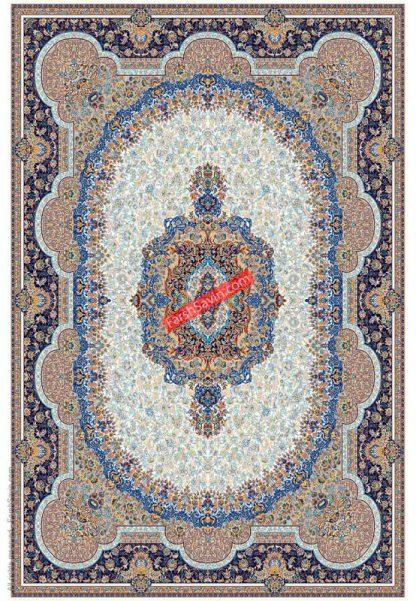 فرش ساوین 1573 کرم کلاسیک پذیرایی