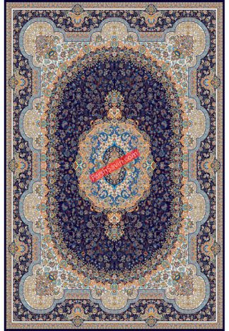 فرش ساوین 1573 سرمه ای کلاسیک اتاق پذیرایی