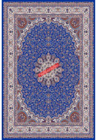 فرش ساوین 1574 آبی تیره کلاسیک پذیرایی