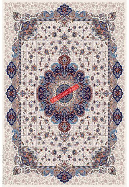 فرش ساوین 1575 کرم کلاسیک اتاق پذیرایی