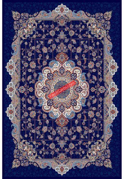 فرش ساوین 1575 سرمه ای کلاسیک پذیرایی