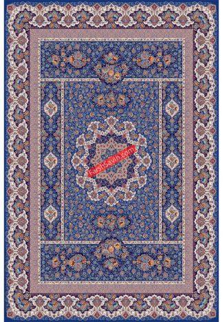 فرش ساوین 1576 آبی تیره کلاسیک