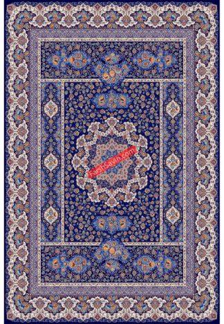 فرش ساوین 1576 سرمه ای کلاسیک پذیرایی