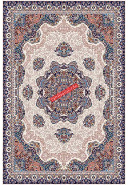 فرش ساوین 1577 کرم کلاسیک اتاق پذیرایی