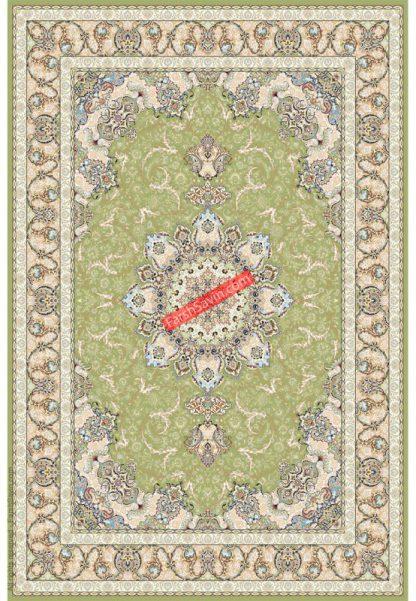 فرش ساوین 3000 سبز کلاسیک پذیرایی