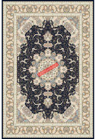 فرش ساوین 3000 سرمه ای کلاسیک