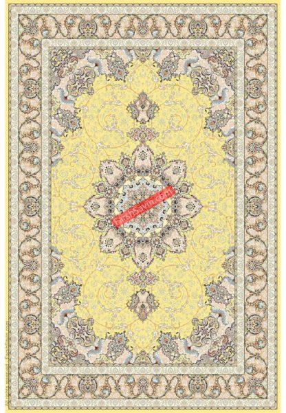 فرش ساوین 3000 زرد کلاسیک