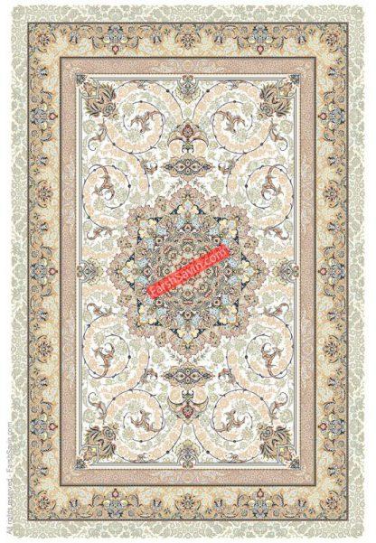 فرش ساوین 3001 کرم کلاسیک