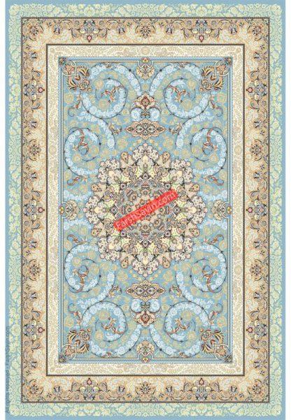 فرش ساوین 3001 آبی کلاسیک پذیرایی