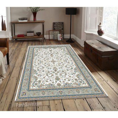 فرش ساوین 3002 کرم حاشیه فیلی کلاسیک