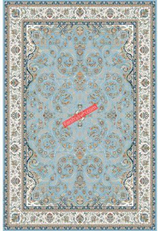 فرش ساوین 3002 آبی کلاسیک پذیرایی