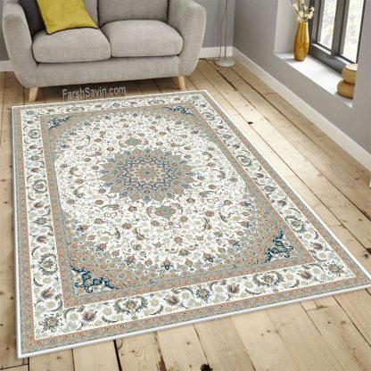 فرش ساوین 3003 کرم کلاسیک