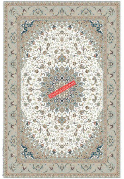 فرش ساوین 3003 کرم حاشیه فیلی کلاسیک