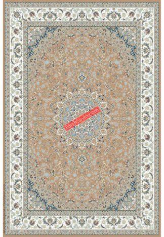 فرش ساوین 3003 بژ کلاسیک اتاق پذیرایی