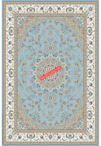 فرش ساوین 3003 آبی کلاسیک پذیرایی