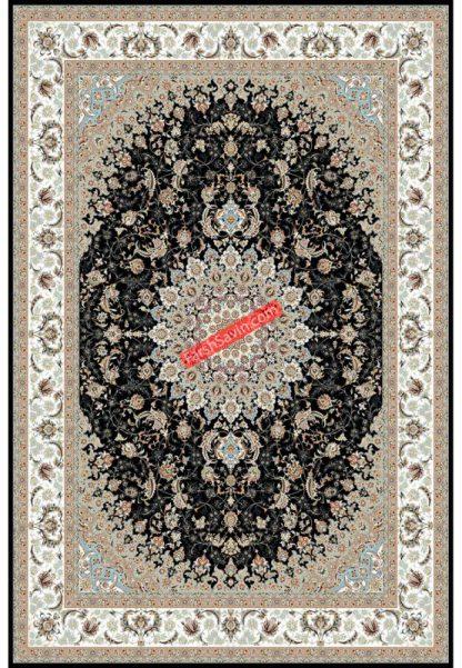 فرش ساوین 3003 سرمه ای کلاسیک پذیرایی