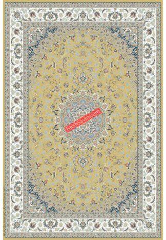 فرش ساوین 3003 زرد کلاسیک اتاق پذیرایی
