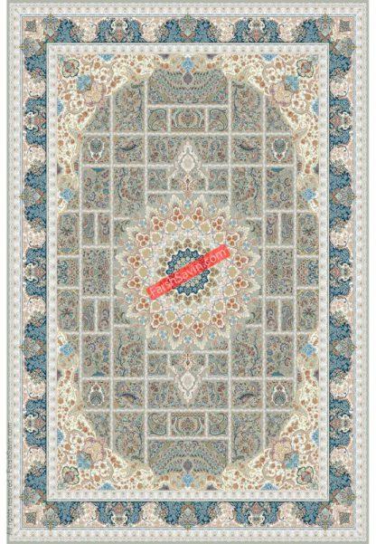 فرش ساوین 3005 بژ کلاسیک اتاق پذیرایی