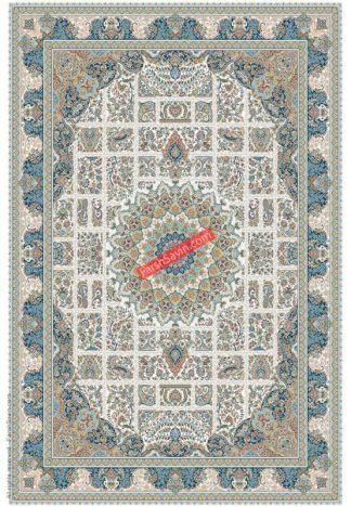 فرش ساوین 3005 کرم کلاسیک اتاق پذیرایی