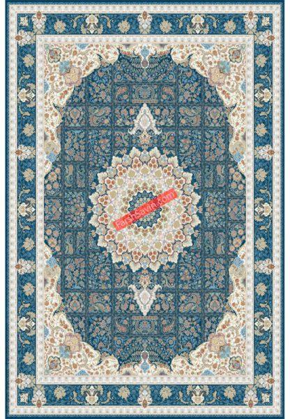 فرش ساوین 3005 سرمه ای کلاسیک پذیرایی