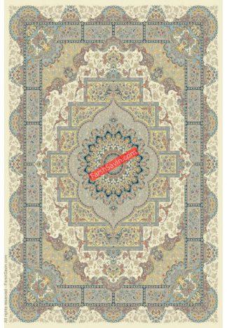 فرش ساوین 3007 کرم کلاسیک