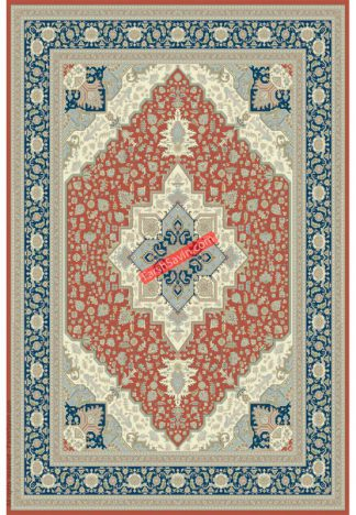فرش ساوین 3008 مسی کلاسیک پذیرایی