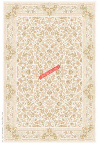 فرش ساوین 3120 کرم کلاسیک اتاق پذیرایی
