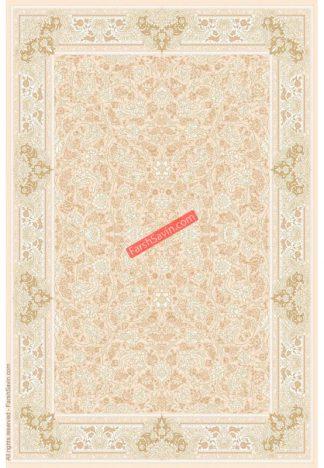 فرش ساوین 3120 کرم استخوانی 4 رنگ کلاسیک