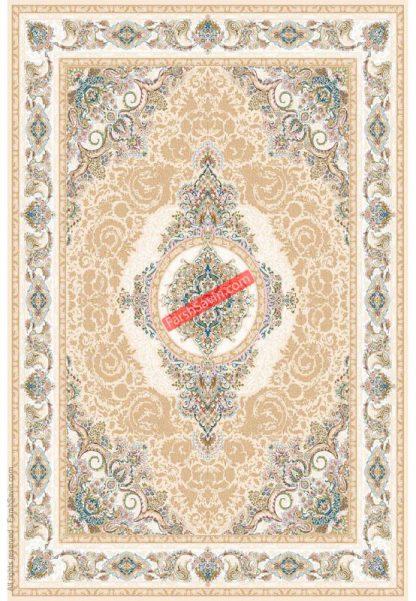فرش ساوین 3121 کرم استخوانی کلاسیک
