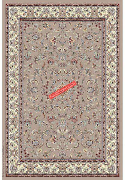 فرش ساوین 4501 شتری کلاسیک اتاق پذیرایی