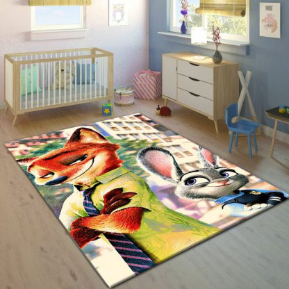 فرش ساوین زوتوپیا 7507 مدرن و فانتزی اتاق کودک