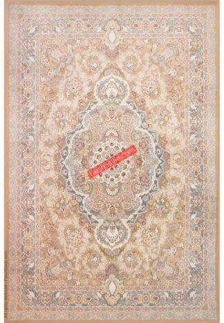 فرش ساوین افرا بژ کلاسیک اتاق پذیرایی